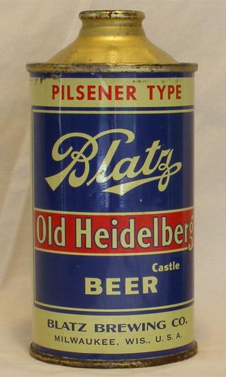 Blatz Beer Low Profile Cone Top Beer Can