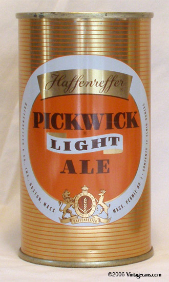 Pickwick Light Ale Flat Top Beer Can