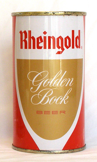Rheingold Golden Bock Flat Top Beer Can