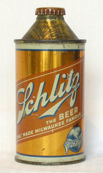 Schlitz Beer High Profile Cone Top Beer Can