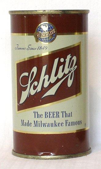Schlitz Beer Flat Top Beer Can