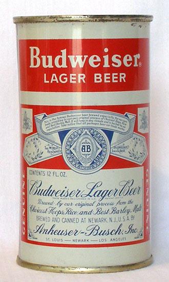 Budweiser Beer Flat Top Beer Can