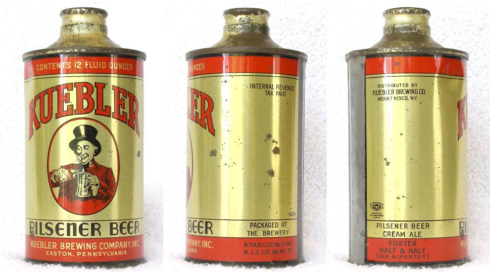Kuebler Beer J-Spout Cone Top Beer Can