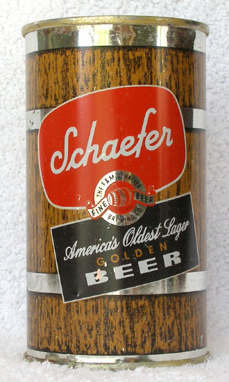 Schaefer Golden Beer Flat Top Beer Can