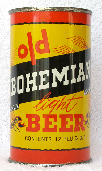 Old Bohemian Beer Flat Top Beer Can