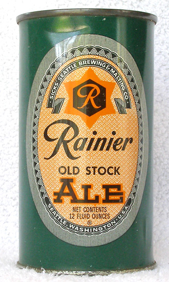 Rainier Ale Flat Top Beer Can