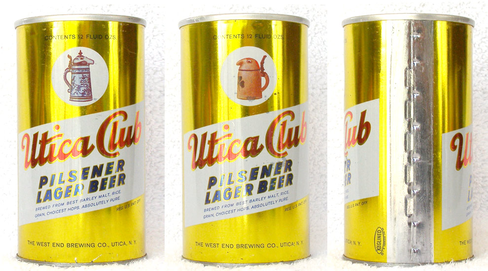 Utica Club Beer Tab Top Beer Can