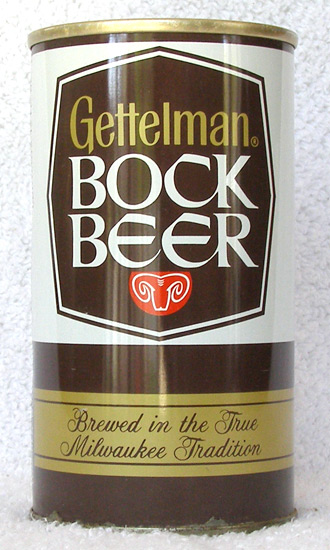 Gettleman Bock Tab Top Beer Can