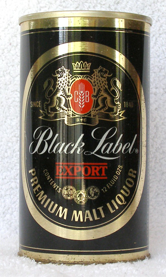 Black Label Malt Liquor Tab Top Beer Can