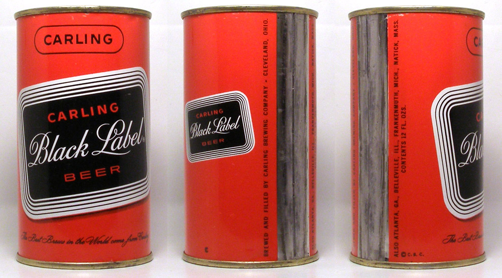 Black Label Beer Flat Top Beer Can