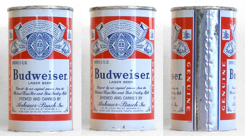 Budweiser Beer Flat Top Beer Can