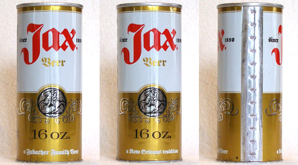 Jax Beer Tab Top Beer Can