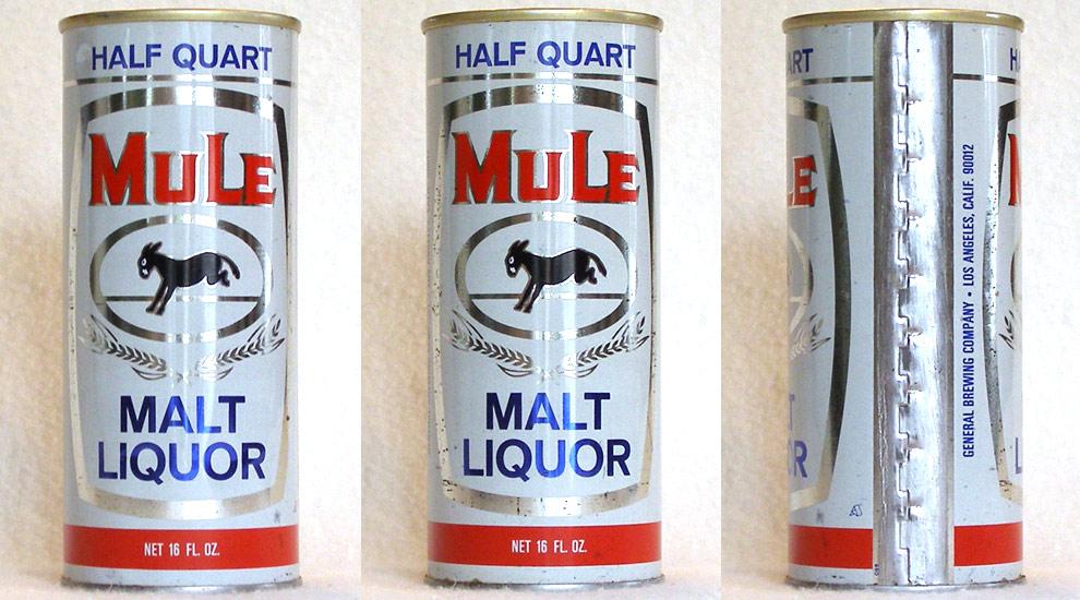 Mule Malt Liquor Tab Top Beer Can