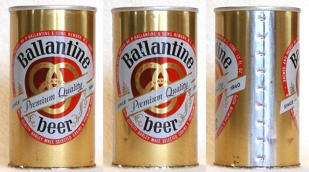 Ballantine Beer Tab Top Beer Can