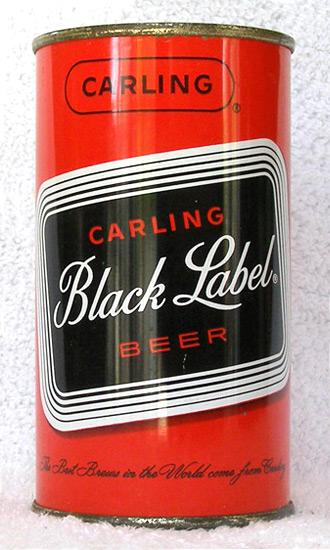 Black Label Beer Flat Top Beer Can