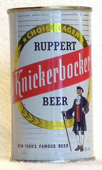 Ruppert Beer Flat Top Beer Can