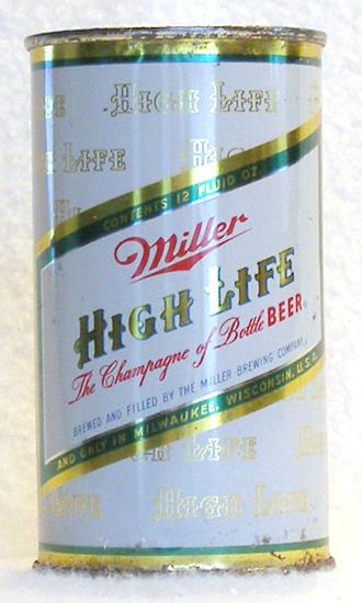 Miller Beer Flat Top Beer Can