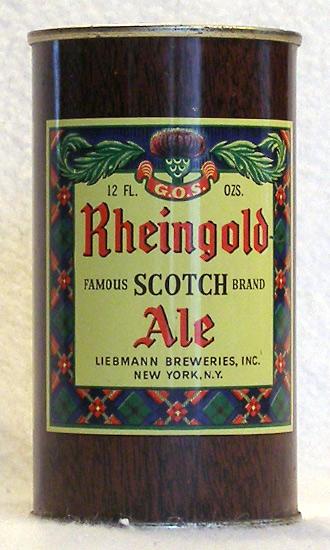 Rheingold Scotch Ale Flat Top Beer Can