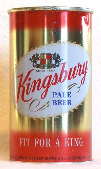 Kingsbury Beer Flat Top Beer Can