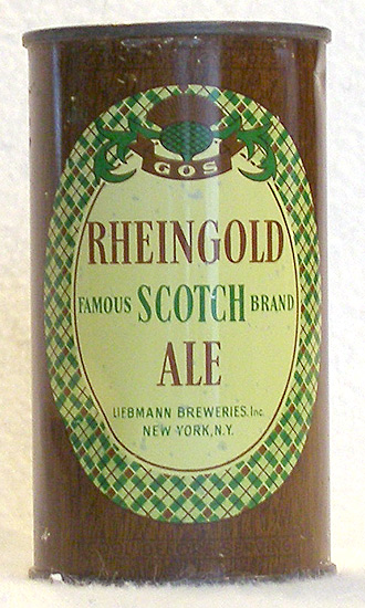 Rheingold Scotch Ale Flat Top Beer Can