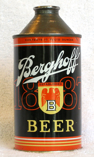 Berghoff Beer High Profile Cone Top Beer Can