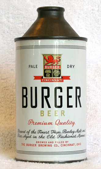 Burger Beer High Profile Cone Top Beer Can