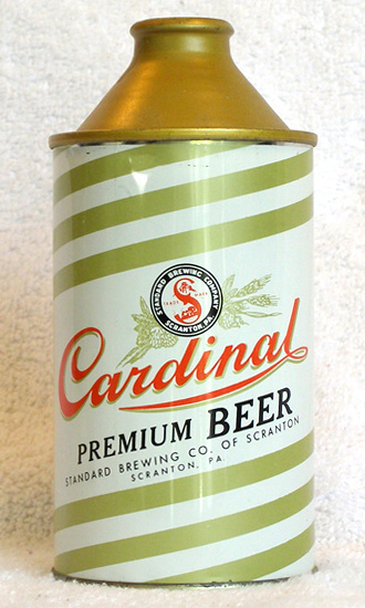 Cardinal Beer High Profile Cone Top Beer Can