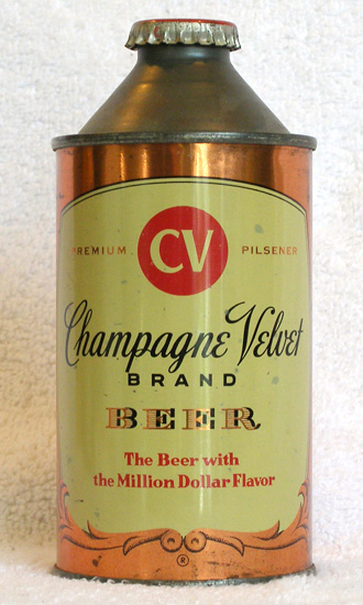 Champagne Velvet Beer Low Profile Cone Top Beer Can