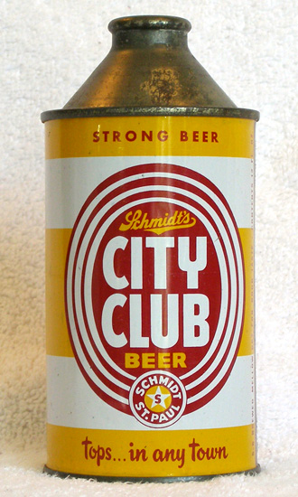 City Club Beer Low Profile Cone Top Beer Can