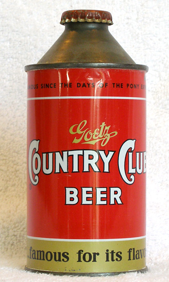 Country Club Beer High Profile Cone Top Beer Can