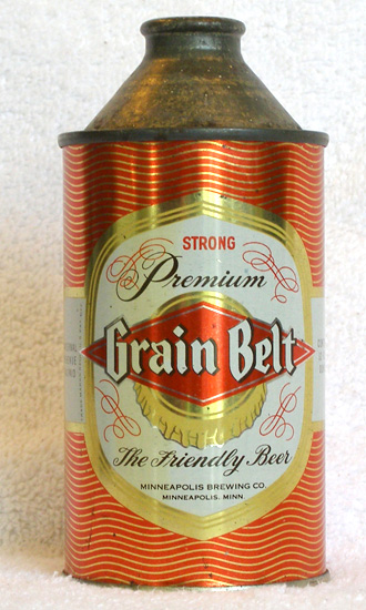 Grain Belt Beer High Profile Cone Top Beer Can