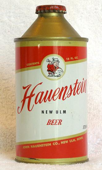 Hauenstein Beer High Profile Cone Top Beer Can