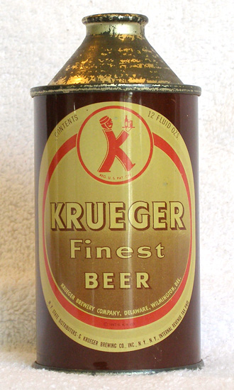 Krueger Beer High Profile Cone Top Beer Can