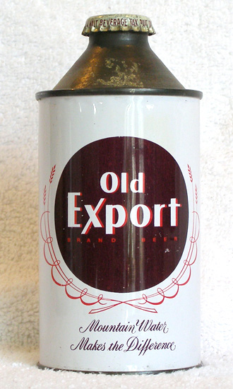 Old Export Beer High Profile Cone Top Beer Can