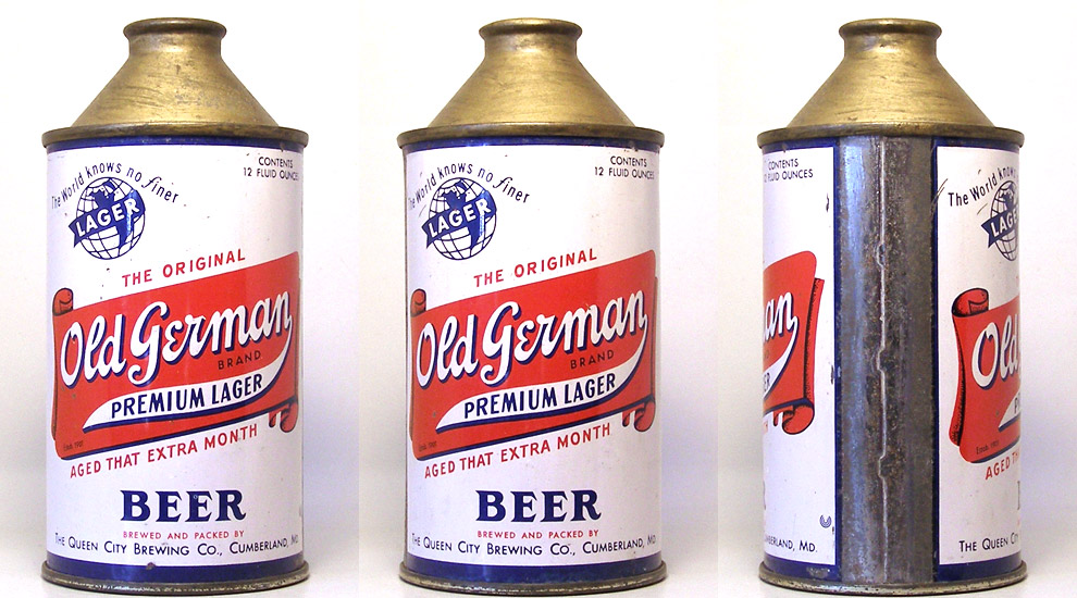 Old German Beer High Profile Cone Top Beer Can