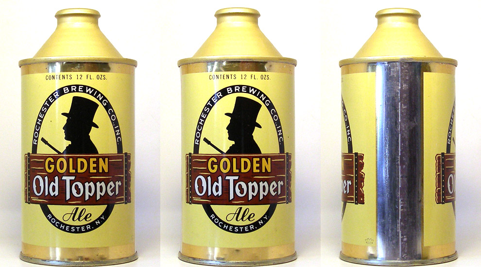 Old Topper Golden Ale High Profile Cone Top Beer Can