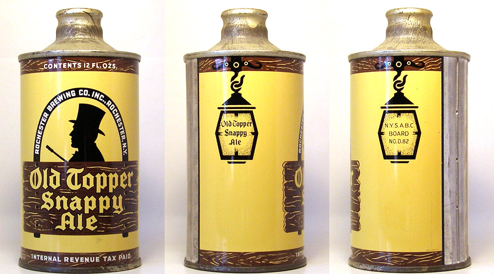 Old Topper Ale J-Spout Cone Top Beer Can