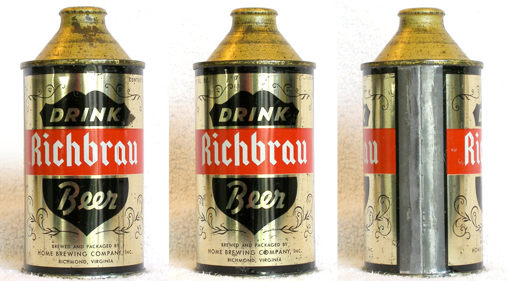 Richbrau Beer High Profile Cone Top Beer Can