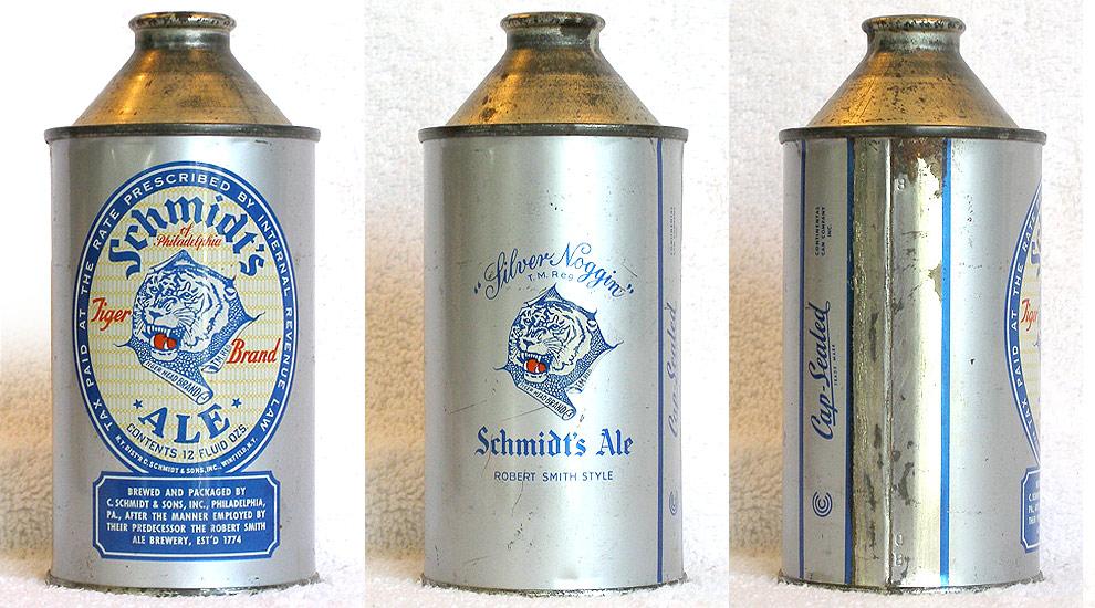 Schmidt Ale High Profile Cone Top Beer Can