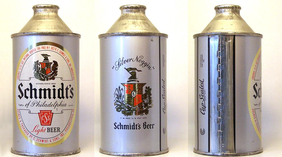 Schmidt Beer High Profile Cone Top Beer Can