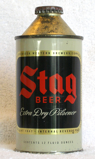 Stag Beer High Profile Cone Top Beer Can