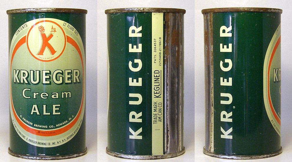 Krueger Ale Flat Top Beer Can