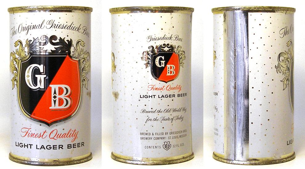 Griesedieck Bros. Beer Flat Top Beer Can