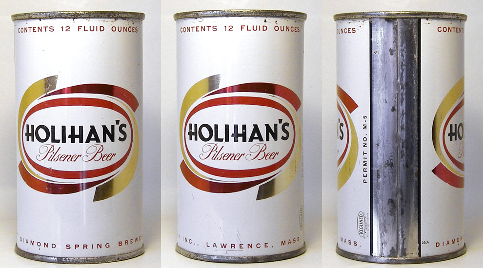 Holihans Beer Flat Top Beer Can