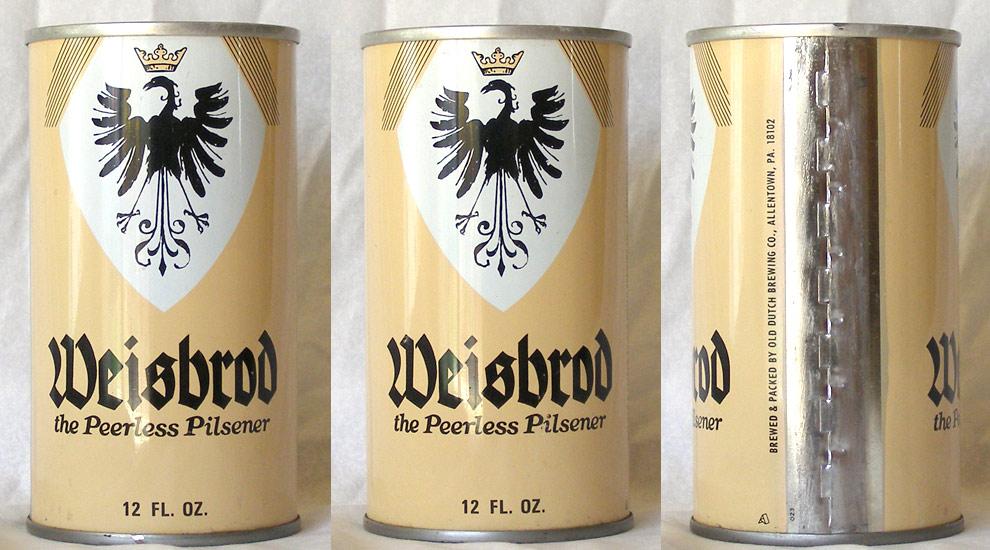 Weisbrod Beer Tab Top Beer Can
