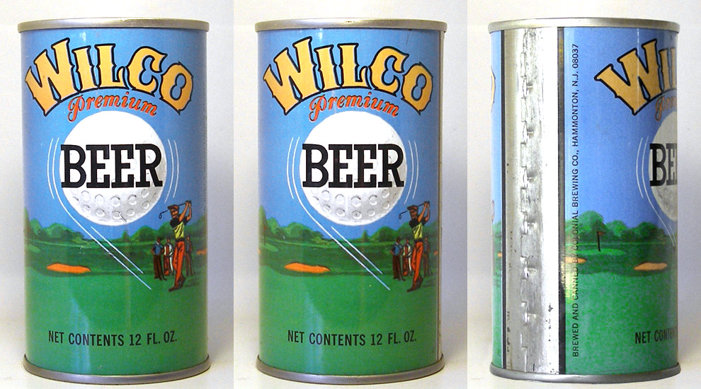 Wilco Beer Tab Top Beer Can