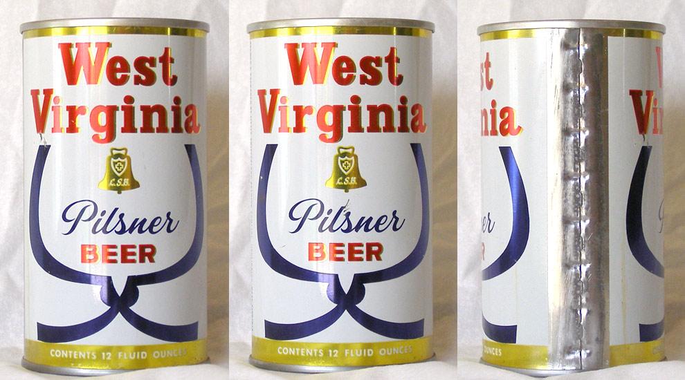 West Virginia Beer Tab Top Beer Can