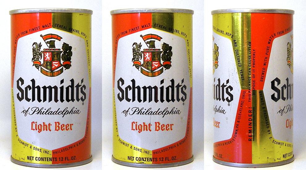 Schmidts Beer Tab Top Beer Can