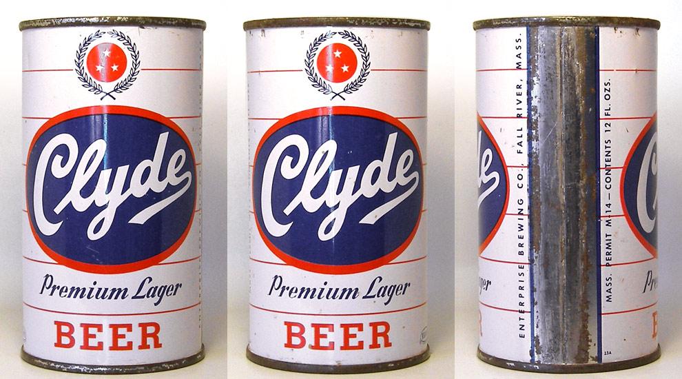 Clyde Beer Flat Top Beer Can