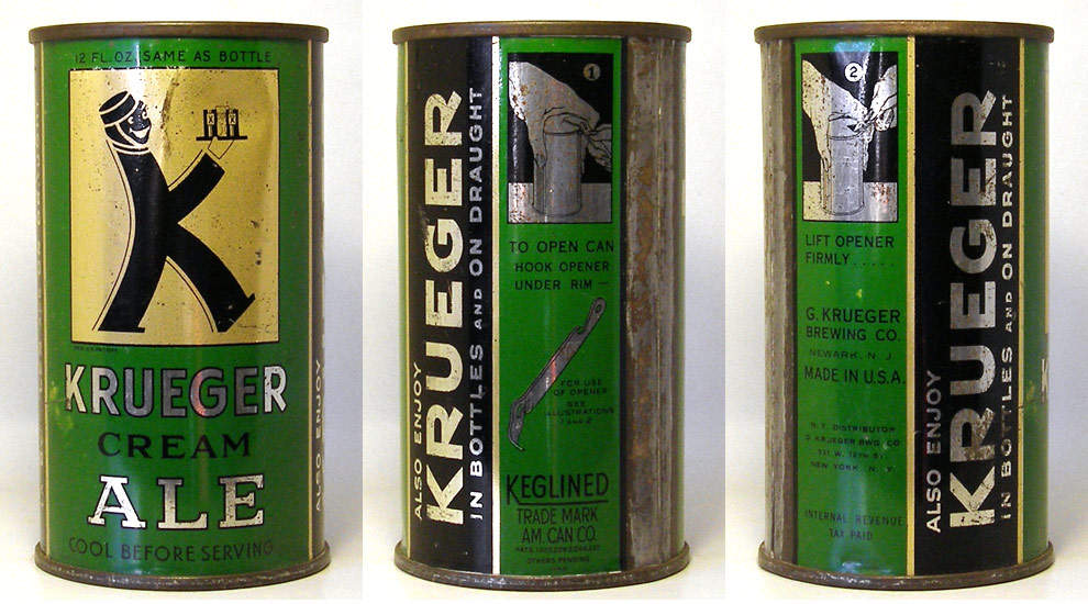 Krueger Cream Ale Flat Top Beer Can